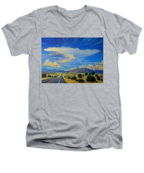 New Mexico Cloud Patterns Men's V-Neck T-Shirt