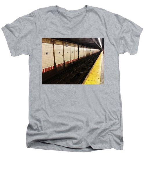 New York City Subway Line Men's V-Neck T-Shirt