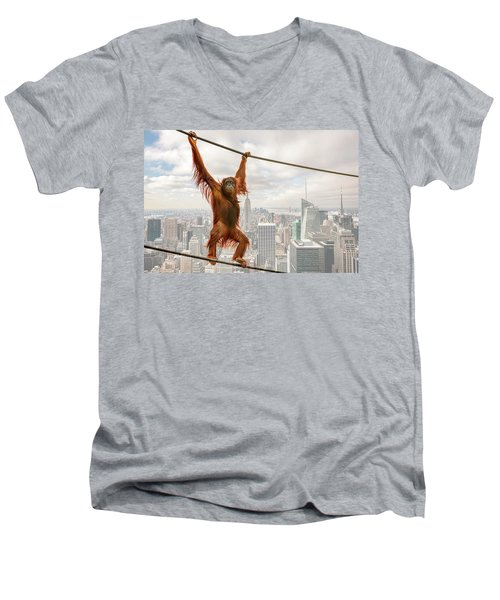 New York Men's V-Neck T-Shirt