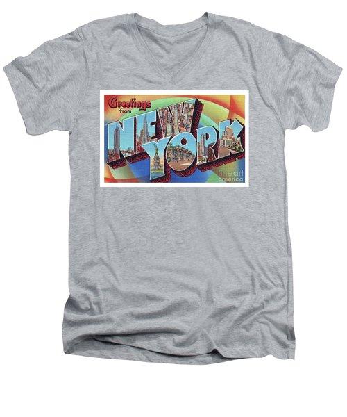 New York Greetings - Version 2 Men's V-Neck T-Shirt