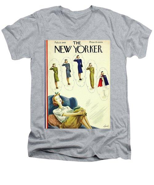 New Yorker February 27th 1943 Men's V-Neck T-Shirt