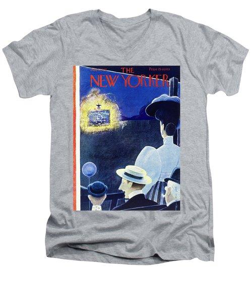 New Yorker July 6th 1946 Men's V-Neck T-Shirt