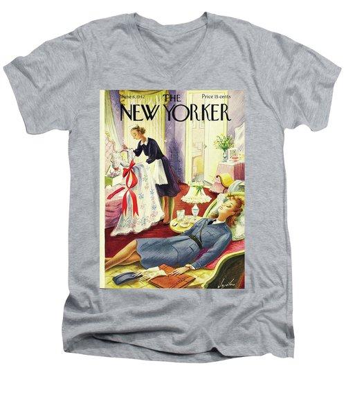 New Yorker June 6th 1942 Men's V-Neck T-Shirt