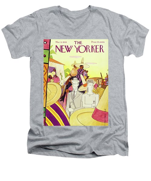 New Yorker March 9th 1946 Men's V-Neck T-Shirt