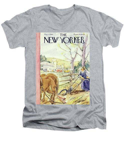 New Yorker May 17th 1947 Men's V-Neck T-Shirt