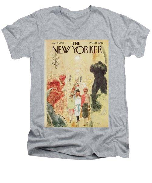 New Yorker November 14 1959 Men's V-Neck T-Shirt