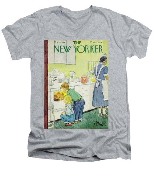 New Yorker November 24, 1951 Men's V-Neck T-Shirt