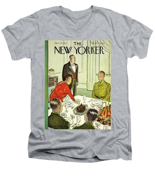 New Yorker November 27th 1943 Men's V-Neck T-Shirt