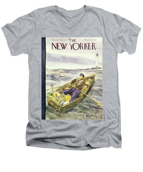 New Yorker November 30th 1946 Men's V-Neck T-Shirt