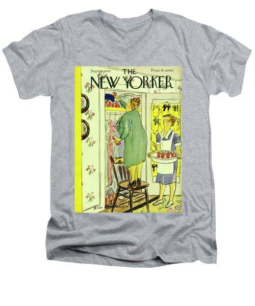New Yorker September 25th 1943 Men's V-Neck T-Shirt