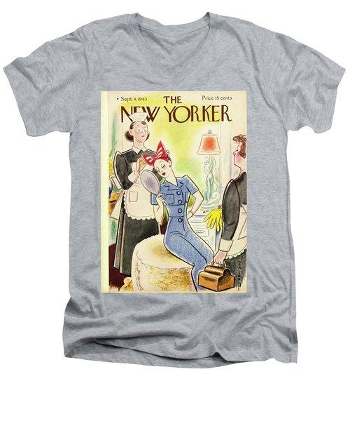 New Yorker September 4th 1943 Men's V-Neck T-Shirt