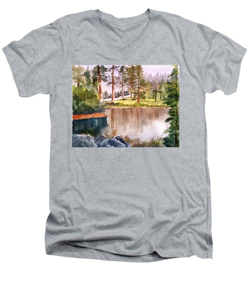 Nez Perce Lake Men's V-Neck T-Shirt