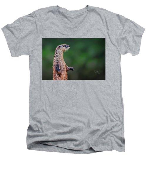 Norman The Otter Men's V-Neck T-Shirt