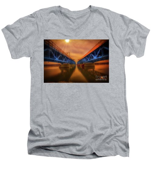 North Grand Island Bridge Men's V-Neck T-Shirt