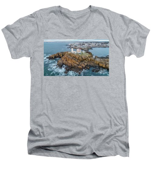 Nubble Light Winter Men's V-Neck T-Shirt