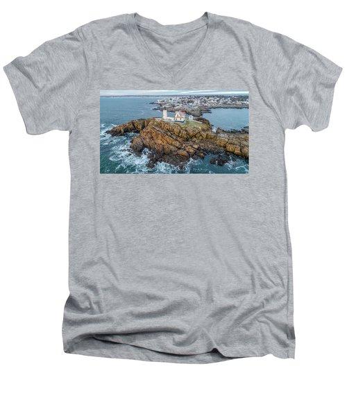 Nubble Light Winter Men's V-Neck T-Shirt