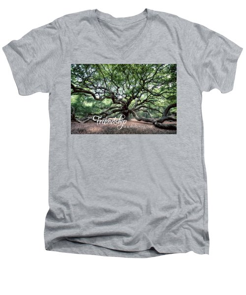 Oak Of The Angels - Friendship Is A Tree Men's V-Neck T-Shirt