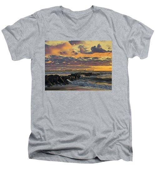 Ob Sunset No. 3 Men's V-Neck T-Shirt