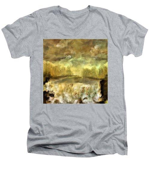 October At The Falls Men's V-Neck T-Shirt