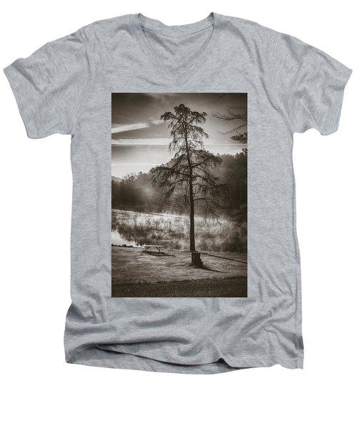 Odd Pair Sepia Men's V-Neck T-Shirt