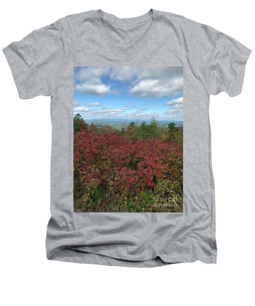Men's V-Neck T-Shirt featuring the photograph Oklahoma Scenic Trail  by Robin Maria Pedrero