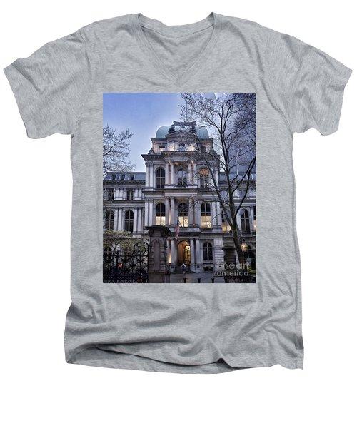 Old City Hall, Boston Men's V-Neck T-Shirt