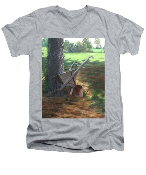 Old Farm Seeder, Louisiana Men's V-Neck T-Shirt