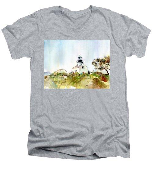 Old Point Loma Light Men's V-Neck T-Shirt