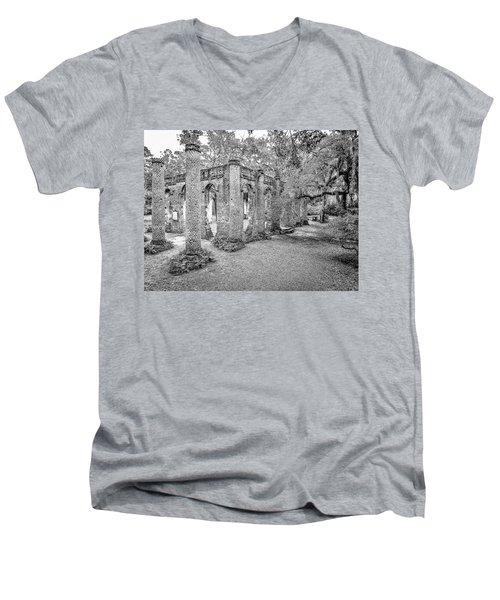 Old Sheldon Church - Angled Men's V-Neck T-Shirt