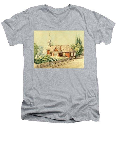 Old Swedes' Church, Southwark, Philadelphia Men's V-Neck T-Shirt