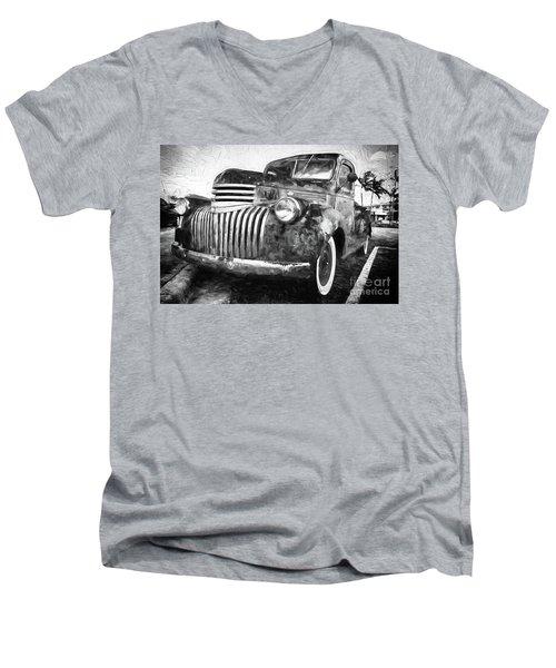 Old Truck  - Painterly Men's V-Neck T-Shirt
