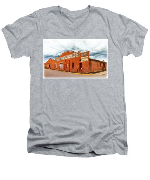 Old Warehouse In Farmville Virginia Men's V-Neck T-Shirt