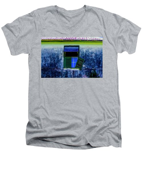 Old Window 3 Men's V-Neck T-Shirt