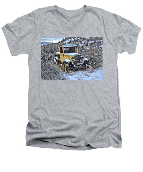 Old Yellow Truck Men's V-Neck T-Shirt