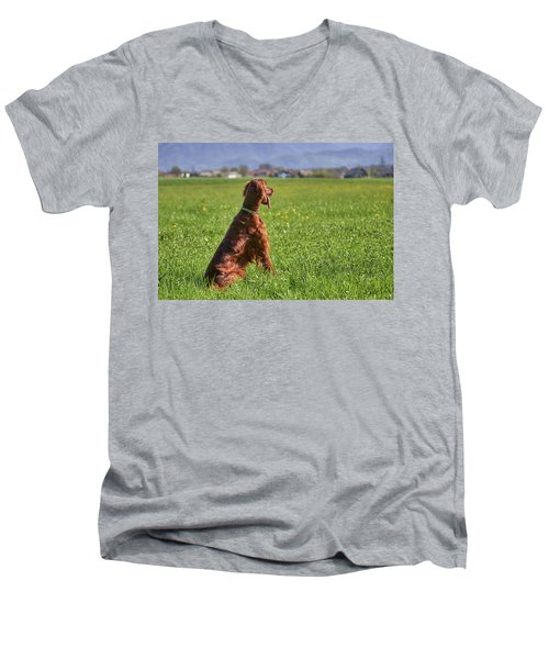 On The Watch Men's V-Neck T-Shirt