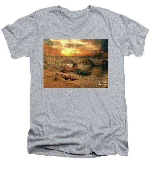Once More To The Bridge Dear Friends Men's V-Neck T-Shirt
