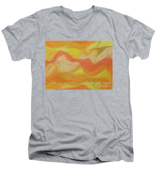 Orange Colors 1 Men's V-Neck T-Shirt