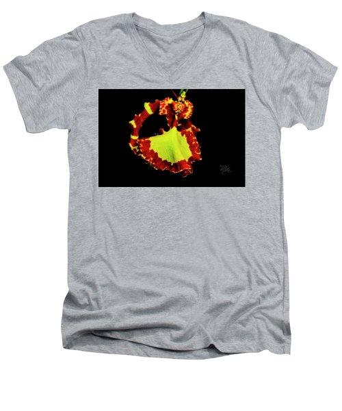 Orchid Study Nine Men's V-Neck T-Shirt