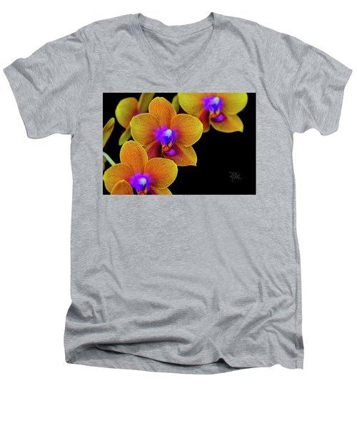 Orchid Study Ten Men's V-Neck T-Shirt