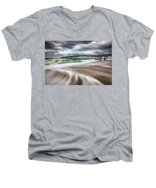 Outer Banks Nc North Carolina Beach Seascape Photography Obx Men's V-Neck T-Shirt