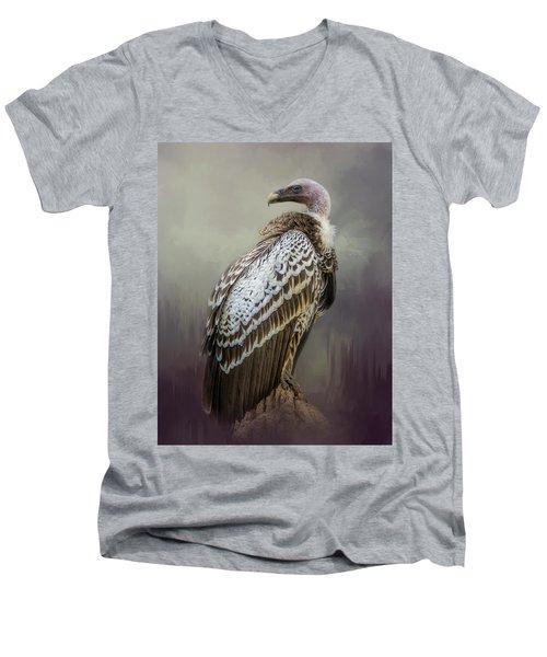 Over Her Shoulder Men's V-Neck T-Shirt