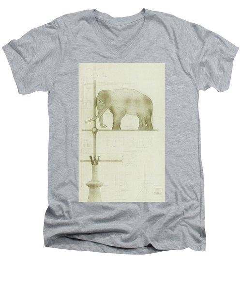 Pachyderm House, Philadelphia Zoo, Detail Of Weather Vane Men's V-Neck T-Shirt