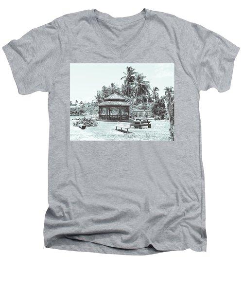 Pagoda On The Sea Men's V-Neck T-Shirt