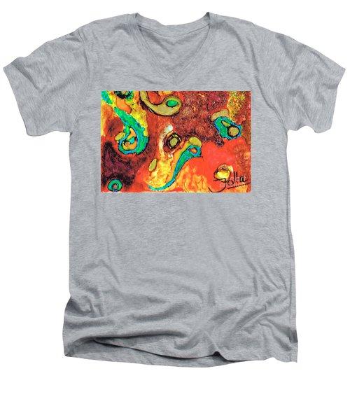 Paisley Whispers.. Men's V-Neck T-Shirt