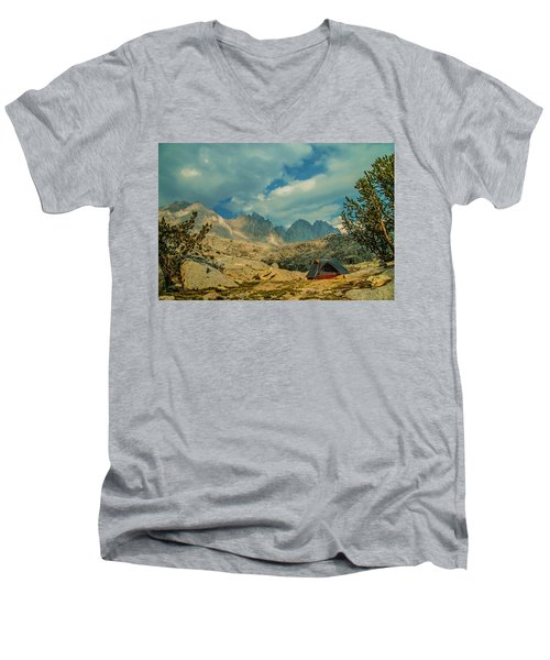 Palisades Glow Men's V-Neck T-Shirt