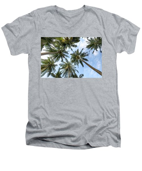 Palms  Beach Men's V-Neck T-Shirt
