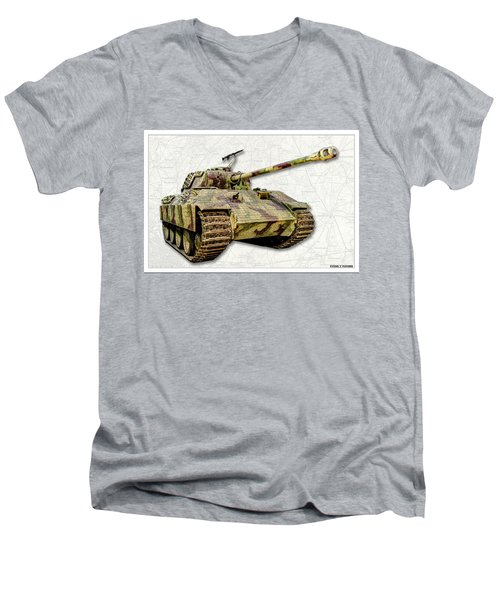 Panzer V Panther Men's V-Neck T-Shirt