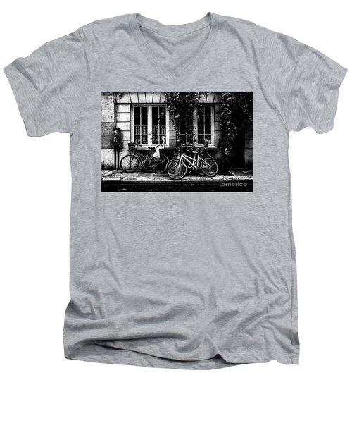 Paris At Night - Rue Poulletier Men's V-Neck T-Shirt