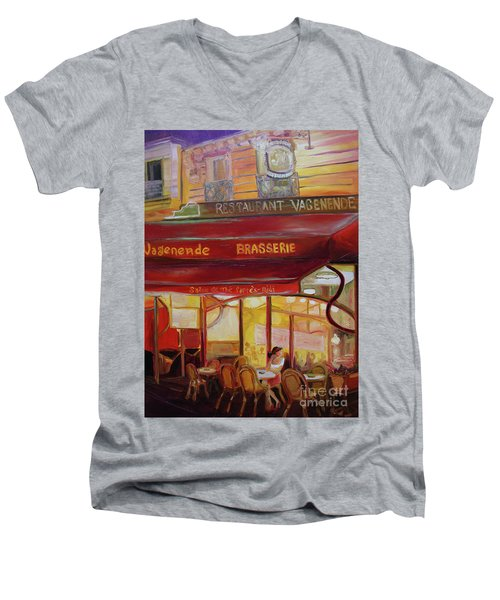 Paris Night Men's V-Neck T-Shirt