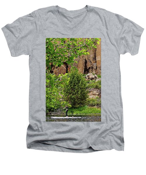 Passing By Men's V-Neck T-Shirt